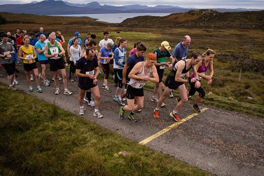 The Start, Coigach Half-marathon 2013!